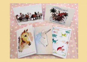 Illustrated equine greeting cards (24 pack)