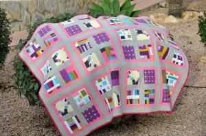 'Pink wave' quilt