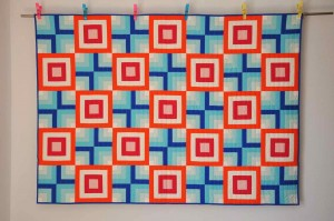 'Fire and ice' quilt