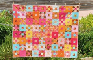 'Meet the squirrels' baby quilt