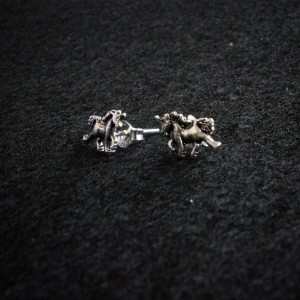 Unicorn silver earrings